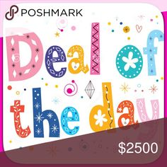 """""""DEAL OF THE DAY"""" item 50% off! 😱 The item listed beside the """"DEAL OF THE DAY"""" sign is 50% off!  Tag me for purchase or make offer for 1/2 off!! AWESOME DEAL Pajamas"""