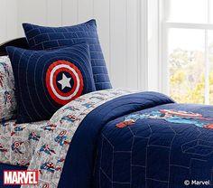 Captain America Quilt | Pottery Barn Kids