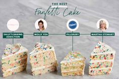 I Tried 4 Famous Funfetti Cake Recipes and the Winner Was Clear   Kitchn Donut Recipes, Cake Recipes, Cakes Plus, Sallys Baking Addiction, Funfetti Cake, Best Chocolate Chip Cookie, Box Cake Mix, Colorful Cakes, Food Reviews