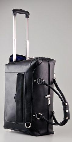 Rebecca Minkoff Black Wheelie hand luggage Travel Bag