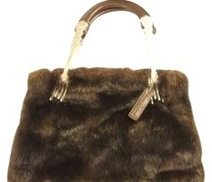 Isabella s Journey Vintage Handmade Faux Fur Tote in brown Fork, Faux Fur,  Tote Bag. Tradesy 9e1eabc607