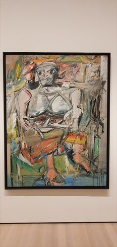 Willem de Kooning, Woman I, oil and metallic paint on canvas. Willem De Kooning, Jackson Pollock, De Kooning Paintings, Expressionist Artists, Action Painting, Museum Of Modern Art, Contemporary Paintings, Fine Art Paper, Painting Inspiration
