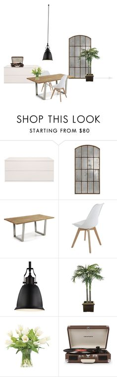 """dinningroom"" by mischa-hemmings on Polyvore featuring interior, interiors, interior design, thuis, home decor, interior decorating, Blu Dot, Thos. Baker, Feiss en NDI"