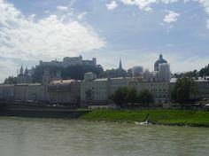 Salzburg Altstadt and Festung Hohensalzburg Austria, New York Skyline, Louvre, Earth, City, Building, Places, Summer, Travel