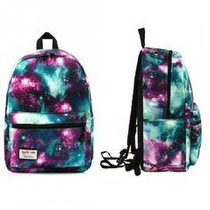 Teen School Backpack Galaxy Kids Stylish Fashion Bag Cool Unique Retro Style Big…