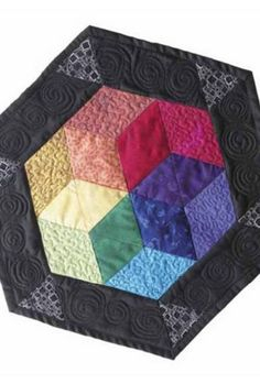 Hexagon Color wheel, free pattern | easy quilt project