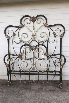 Chic Wrought Iron Headboard For Cool Bedroom Decoration Ideas