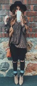 #fall #fashion / pattern print