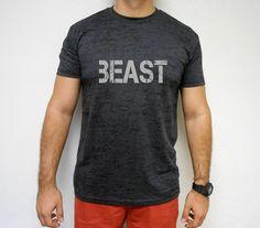 Beast TShirt. Men's Beast Workout Shirt. by StrongGirlClothing, $21.99