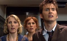 The Doctor, Donna and Agatha Christie in episode The Unicorn and the Wasp