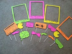 80s Photo Booth props