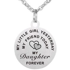 Stainless Steel Daughter Necklace.