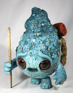 New monster sculptures by Chris Ryniak (and the last a team up with Amanda Spayd) for a show opening at Stranger Factory . Cute Creatures, Magical Creatures, Fantasy Creatures, Clay Monsters, Little Monsters, Kintsugi, Art Magique, 3d Studio, Paperclay