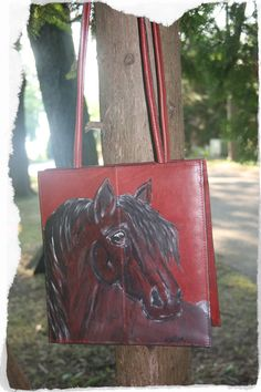 Lucky Red Hot.... Horse Lovers & Cowgirls Purse.   by LuckyHArt, $57.00