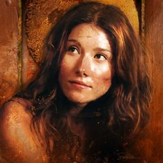 Jewel Staite as Kaylee from Firefly, after a hard day in the engine room.