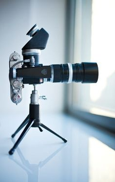 sweet telephoto/prism setup for a rangefinder