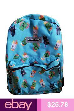 Minecraft Backpack 16 Standard Size School Bag NEW Laptop Backpack, Black Backpack, Backpack Bags, Kids Lunch Bags, School Bags For Kids, Kids Backpacks, School Backpacks, Minecraft Backpack, Minecraft School