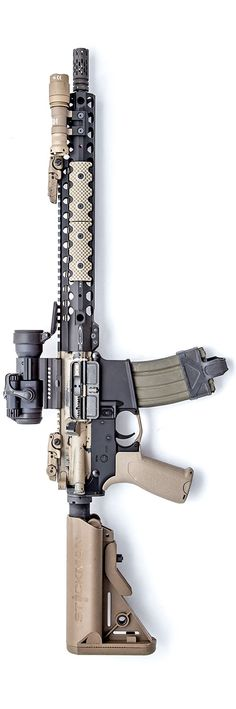 Defense rifle with Aimpoint Pro M4a1 Rifle, Assault Rifle, Airsoft, Military Gear, Military Weapons, Tactical Rifles, Firearms, Shotguns, Weapons Guns