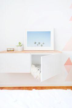 These 10 DIY IKEA Hacks will save you so much money on your furniture! Find some… These 10 DIY IKEA Hacks will save you so. Ikea Storage, Storage Hacks, Storage Ideas, Storage Solutions, Bedroom Storage, Table Storage, Dresser Storage, Nursery Storage, Shoe Storage