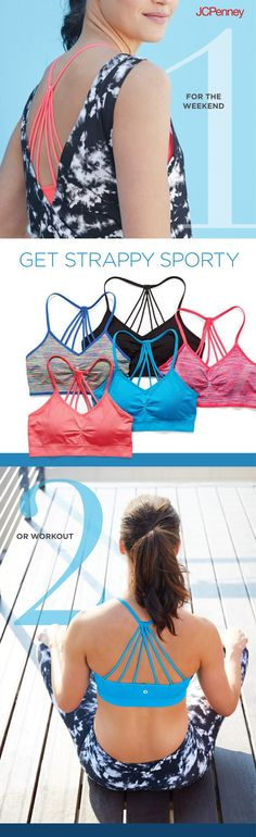 Always there to support you, a stylish sports bra can be worn for whatever the day brings. Show off its strappy back during a weekend grocery run or wear it with workout capris for morning yoga.