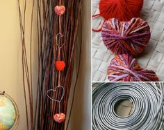simple string of hearts