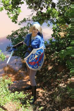 Blue Tunic Link Cosplay 2 by Juliana-Nasome
