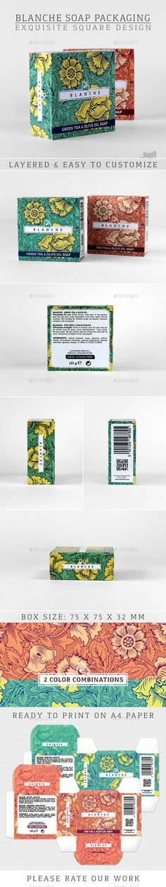 Blanche Soap Packaging - Packaging Print Templates