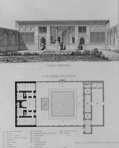 Historical Architecture, Ancient Architecture, Pascal Coste, Habitats, Art Work, Floor Plans, How To Plan, House, Architecture