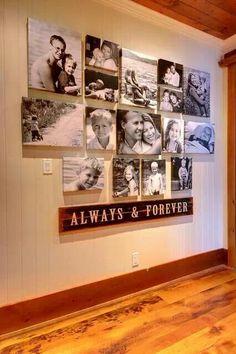 Very nice photo wall....
