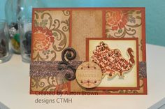 card by Aaron Brown using CTMH Huntington paper