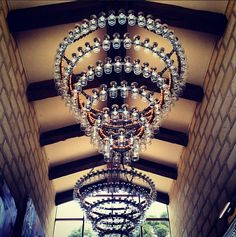 we'd like this in our future homes. #wine glass chandelier.