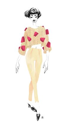 I'm in the mood for chunky knits. REAL chunky ass knits. #fashion #illustration #chunkyknits #knitwear #sweater