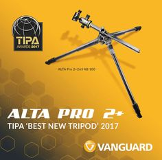 Vanguard ALTA Pro 2+ Tripod wins 2017 TIPA Award  Vanguard announced today that it's been honoured with the TIPA award for Best New Tripod (2017) for its new Alta Pro 2+ 263 AB 100 Tripod.  http://lp-mag.com/ph3g