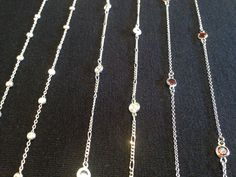 Silver chains by local jewelry designer Mooki