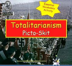 Your students will be engaged in this fun and interactive activity. Students will work with groups creating a picto-word and skit about a term related to the Rise of Totalitarianism in the Modern World. Words include: Communism, Collectivization, Democracy, Appeasement, Fascism, Isolationism, Propaganda, and Police State.  Common Core Aligned!