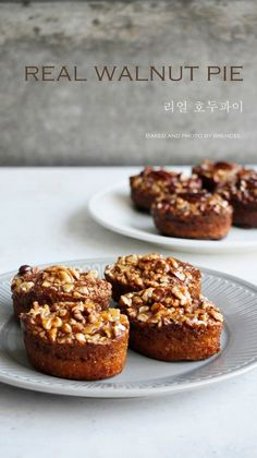 Food Design, Korean Bread Recipe, Walnut Pie, Sweet Cooking, Cheese Tarts, No Bake Pies, Cafe Food, Sweet Cakes, My Favorite Food