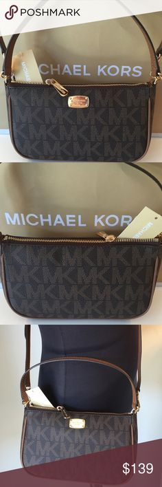 🆕MICHAEL KORS NEW SHOULDER/CROSSBODY BAG 💯AUTH MICHAEL KORS NEW NEVER USED WITH TAGS SHOULDER/CROSSBODY BAG 100% AUTHENTIC. SO STUNNING AND STYLISH! SUCH A BEAUTIFUL BAG! PERFECT FOR THE WOMAN ON THE GO. THIS LOVELY BAG HAS A WONDERFUL INTERIOR WALL POCKET AND THREE INTERIOR WALL CARD SLOTS. THE PERFECT BAG! THE BAG MEASURES 9 INCHES WIDE BY 5.5 INCHES TALL. THE SHOULDER STRAP HAS A 6 INCH DROP. IT ALSO HAS A REMOVABLE AND ADJUSTABLE LONG SHOULDER/ CROSSBODY STRAP Michael Kors Bags…