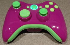 Custom Glossy Purple & Green Xbox 360 Wireless by InnovativeGamer, $59.95