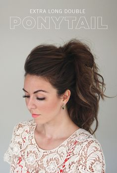 Double Ponytail | Promise Tangeman - I bet with my hair curly this would be a nice look for the holidays.