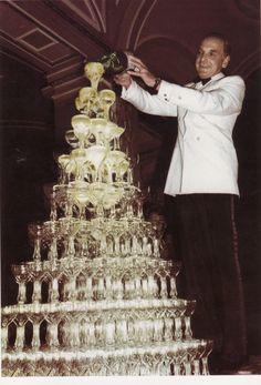 Champagne fountain.
