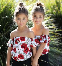Clements Twins Leah and Ava Beautiful Little Girls, Cute Little Girls, Little Girl Dresses, Beautiful Children, Girls Dresses, Twin Outfits, Girl Outfits, Cute Outfits, Twin Baby Girls