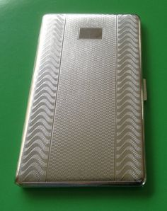 Cigarette Case Silver Tone Metal by Har-Bro. Era by VintageUKSouth