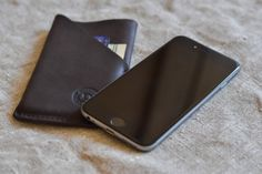 iPhone 7 wallet case leather sleeve with card by DublonLeather