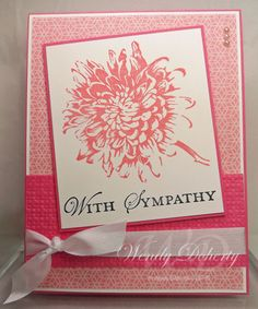 Blooming with Kindness Sympathy by Wdoherty - Cards and Paper Crafts at Splitcoaststampers Cardmaking And Papercraft, Scrapbook Cards, Scrapbooking, Embossed Cards, Some Cards, Sympathy Cards, Greeting Cards, Card Making Inspiration, Flower Cards