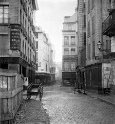Rue des Bourdonnais Paris – 1858 – Crédit Photo: © Charles Marville