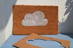 Jurinde macht was: DIY: Fußmatte selbst bemalen