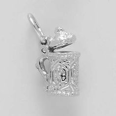 Beer Stein $25  http://www.charmnjewelry.com/sterling-silver-charms.htm #Beer  #CharmnJewelry