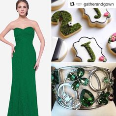The Nadine Bracelet will make any green dress pop! #Repost @gatherandgown  ・・・ Go Green! 🌳🌲🌵🌱🍀🌿🍃Our Gilmore #bridesmaid gown in Kelly with the Nadine cuff from @davidtuteraembellish #dt4gg #davidtutera #davidtuteraembellish  https://www.davidtuteraembellish.com/products/nadine-bracelet