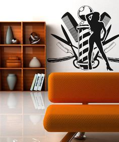 Vinyl Wall Decal Sticker Barbershop #OS_AA588