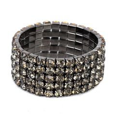 Heavy gun black diamond decorated multilayer design alloy Korean Fashion Bracelet,Priced At Only US$1.27